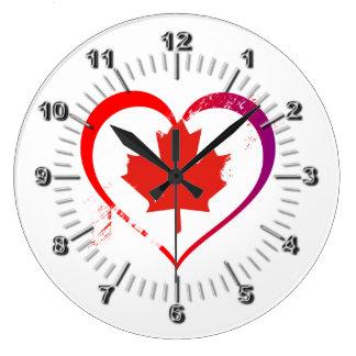 Grande Horloge Ronde Coeur du Canada