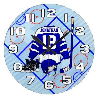 Grande Horloge Ronde Collection de chambre à coucher de hockey sur