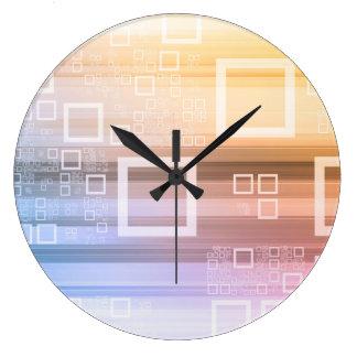 Grande Horloge Ronde Concept du trafic de train de données de données