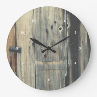 Grande Horloge Ronde Conception en bois d'horloge de grange