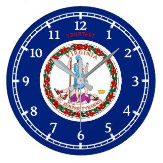 Grande Horloge Ronde Conception personnalisée de drapeau d'état de la