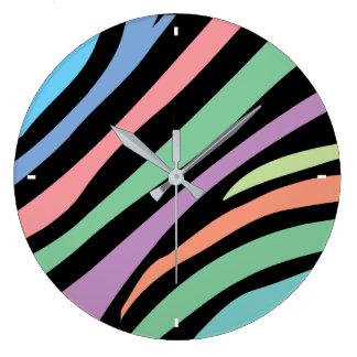 Grande Horloge Ronde Copie en pastel de tigre