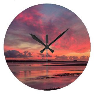 Grande Horloge Ronde Coucher du soleil de Severn de rivière