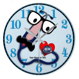 Grande Horloge Ronde Couleur variable d'arrière - plan d'horloge
