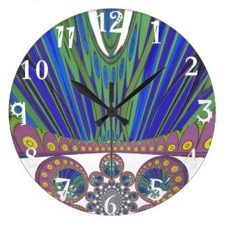 Grande Horloge Ronde Couleurs décoratives africaines de conception