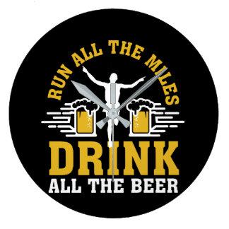 Grande Horloge Ronde Courez toute la boisson de mille toute la bière