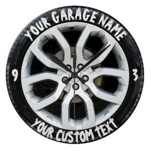 Horloges pneus murales for Garage ad pneu
