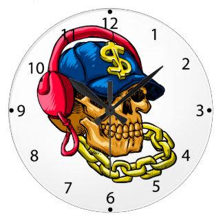 Grande Horloge Ronde Crâne de bandit
