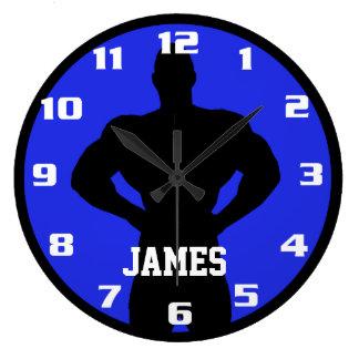 Grande Horloge Ronde Culturiste de monogramme