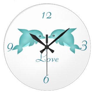 Grande Horloge Ronde Dauphins