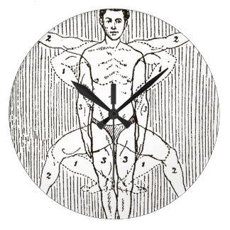 Grande Horloge Ronde Diagramme vintage drôle de natation