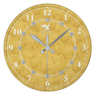 Grande Horloge Ronde Diamant 2 décorés modernes d'or une vente