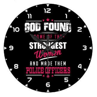 Grande Horloge Ronde Dieu a fait à des policiers la profession hilare