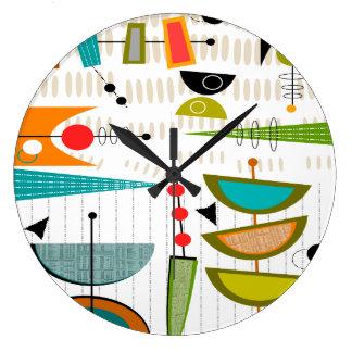Grande Horloge Ronde D'ovales 35 d'horloge moderne de la moitié du