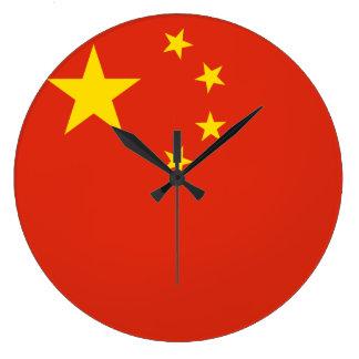 Grande Horloge Ronde Drapeau de la Chine