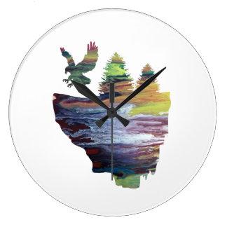 Grande Horloge Ronde Eagle sur l'île de flottement