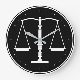 Grande Horloge Ronde Échelles chiques de justice
