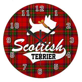 Grande Horloge Ronde Écossais Terrier