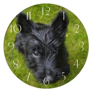 Grande Horloge Ronde Écossais-Terrier-chiot