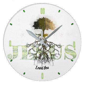 Grande Horloge Ronde Enraciné et fermement fondé dans l'amour 93