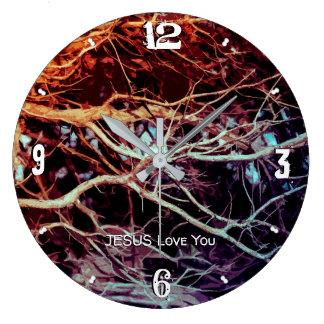 Grande Horloge Ronde Enraciné et fermement fondé dans l'amour LM 93