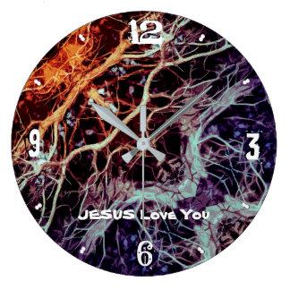 Grande Horloge Ronde Enraciné et fermement fondé dans l'amour LM après