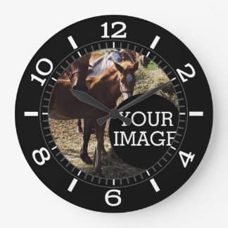 Grande Horloge Ronde Faites à vos propres ici le cadran élégant sur a