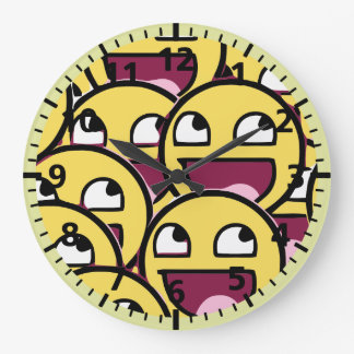 Grande Horloge Ronde Famille de sourire