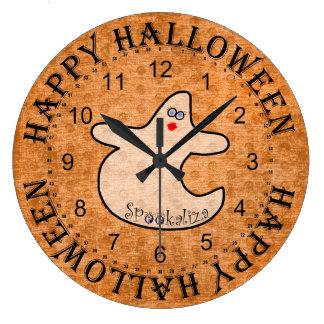 Grande Horloge Ronde Fantôme de diva de Halloween, Spookaliza sur