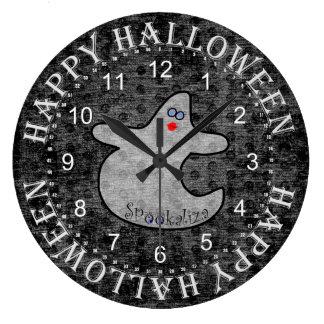 Grande Horloge Ronde Fantôme de diva de Halloween, Spookaliza sur la