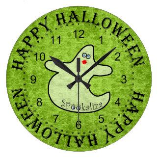 Grande Horloge Ronde Fantôme de diva de Halloween, Spookaliza sur le