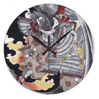 Grande Horloge Ronde Fantôme d'Ukiyo-e Yokai de Japonais par Yoshitoshi