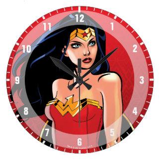 Grande Horloge Ronde Femme de merveille avec l'épée - féroce