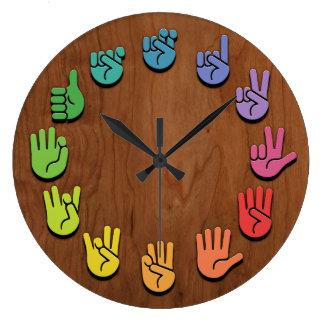 Grande Horloge Ronde Fibre de bois d'ASL