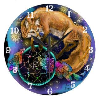 Grande Horloge Ronde Fox de Dreamcatcher