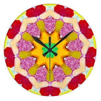 Grande Horloge Ronde Fractale douce délicieuse de sucrerie