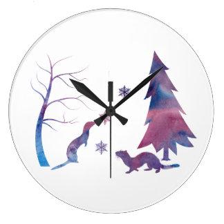 Grande Horloge Ronde Furets
