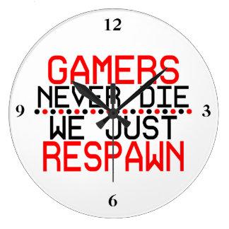 Grande Horloge Ronde Gamers Respawn