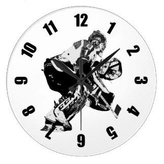 Grande Horloge Ronde Gardien de but de hockey sur glace - sports