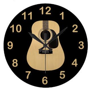 Grande Horloge Ronde Guitare acoustique