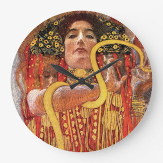 Grande Horloge Ronde Gustav Klimt - déesse de médecine de Hygieia de