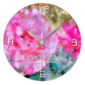 Grande Horloge Ronde Hebreux 13 Perseverez 93