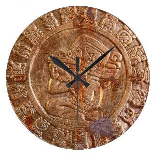 Grande Horloge Ronde Histoire mexicaine aztèque découpée maya de
