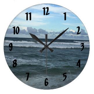 Grande Horloge Ronde Horizon de plage