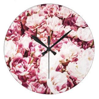 Grande Horloge Ronde Humeur rose