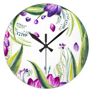 Grande Horloge Ronde Il est temps de fleurs !