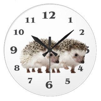 Grande Horloge Ronde Image de hérisson pour l'horloge murale acrylique