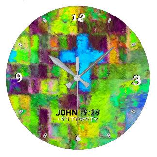 Grande Horloge Ronde J'ai -93 ans assoiffé