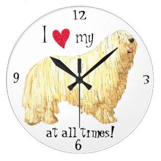 Grande Horloge Ronde J'aime mon Komondor