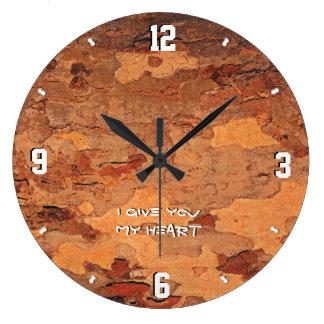 Grande Horloge Ronde Je vous donne mon coeur LM 93